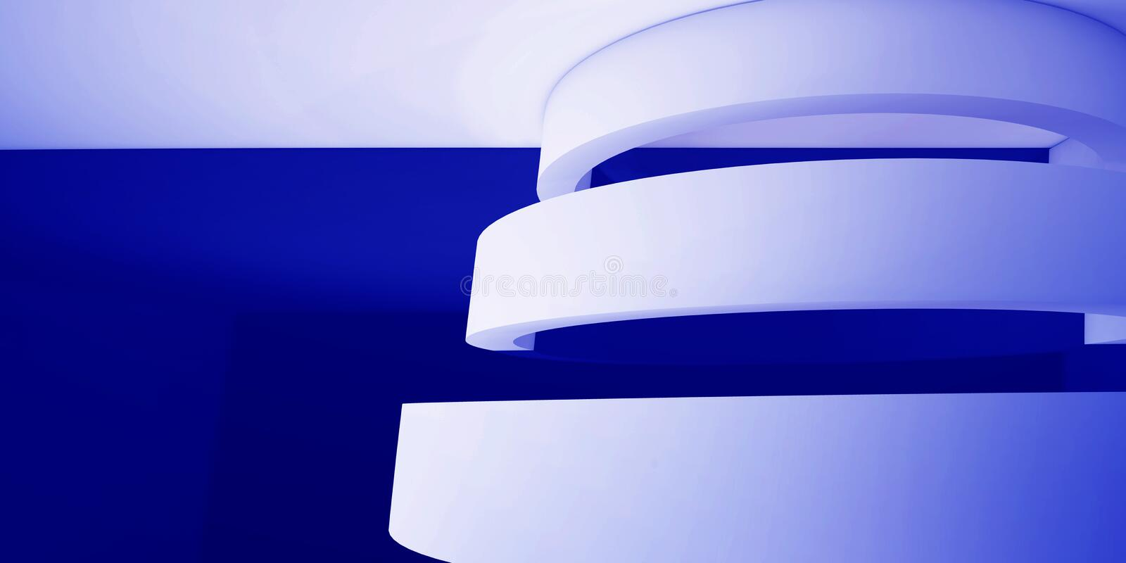 Minimalistic, abstract background with an arch. 3d render, minimal. royalty free illustration