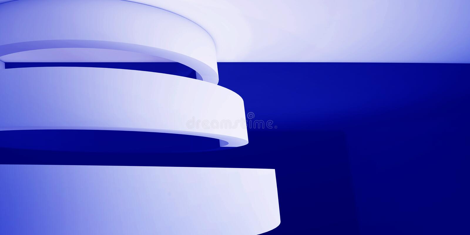 Minimalistic, abstract background with an arch. 3d render, minimal. stock illustration