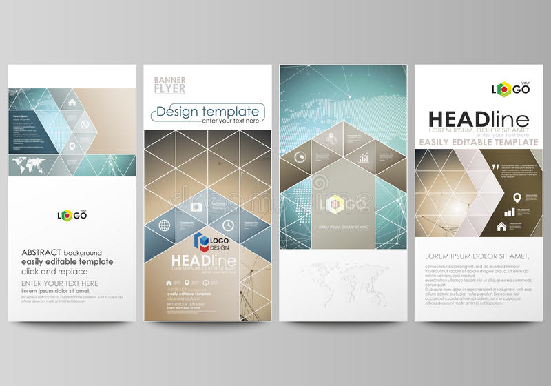 Download The Minimalistic Abstract Vector Illustration Of Editable Layout Four Modern Vertical Banners