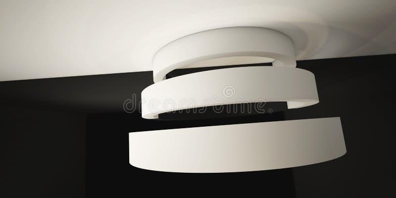 Minimalistic abstrakt bakgrund med en båge 3d framför, minsta stock illustrationer