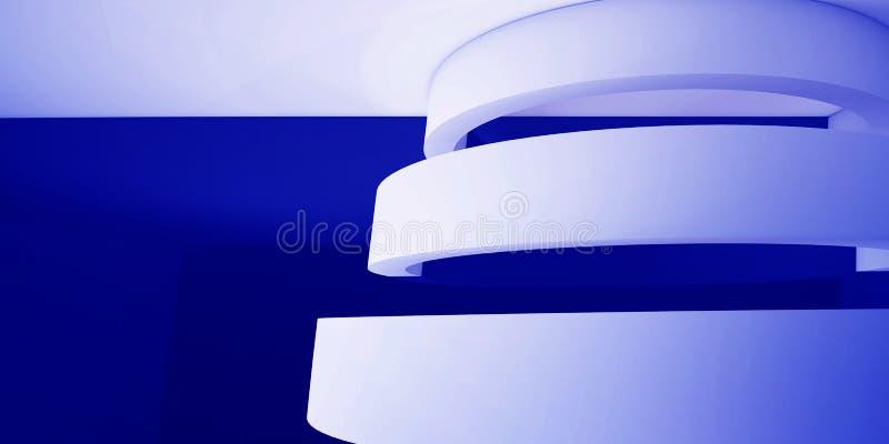 Minimalistic abstrakt bakgrund med en båge 3d framför, minsta royaltyfri illustrationer