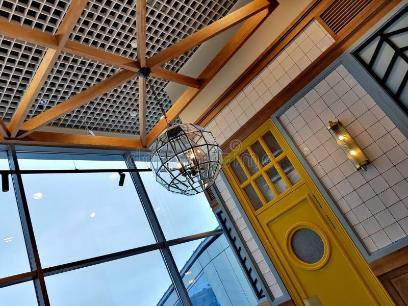 Minimalistic architecturaal binnenland stock foto's