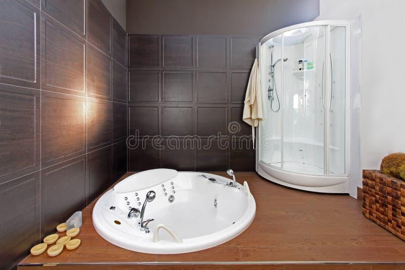 Minimalistic bathroom stock image