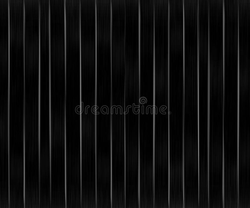 Vertical Lines Dark Pattern. Minimalistic black and white futuristic style bakground pattern with slim vertical lines motif vector illustration