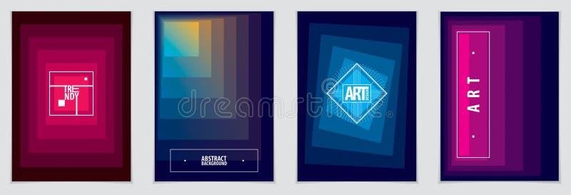 Minimalistic broschyrdesigner Geometrisk abstrakt backgro för vektor stock illustrationer