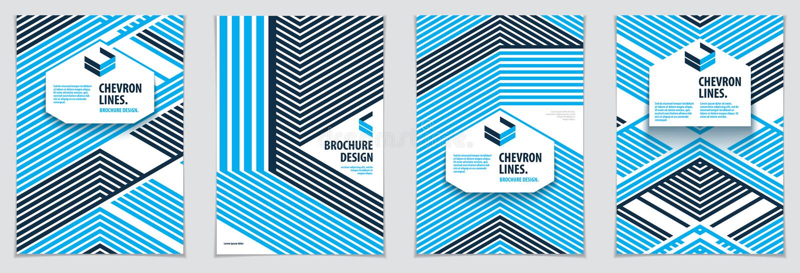 Minimalistic broszurki projekty Wektorowy geometryczny wzoru abstrac ilustracji