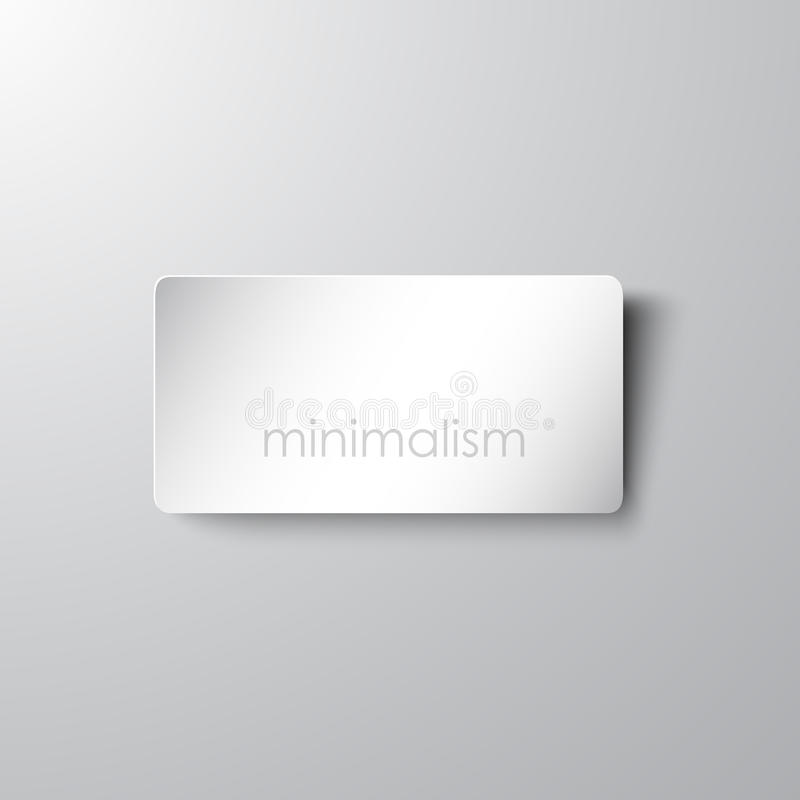 Minimalistic card royalty free illustration