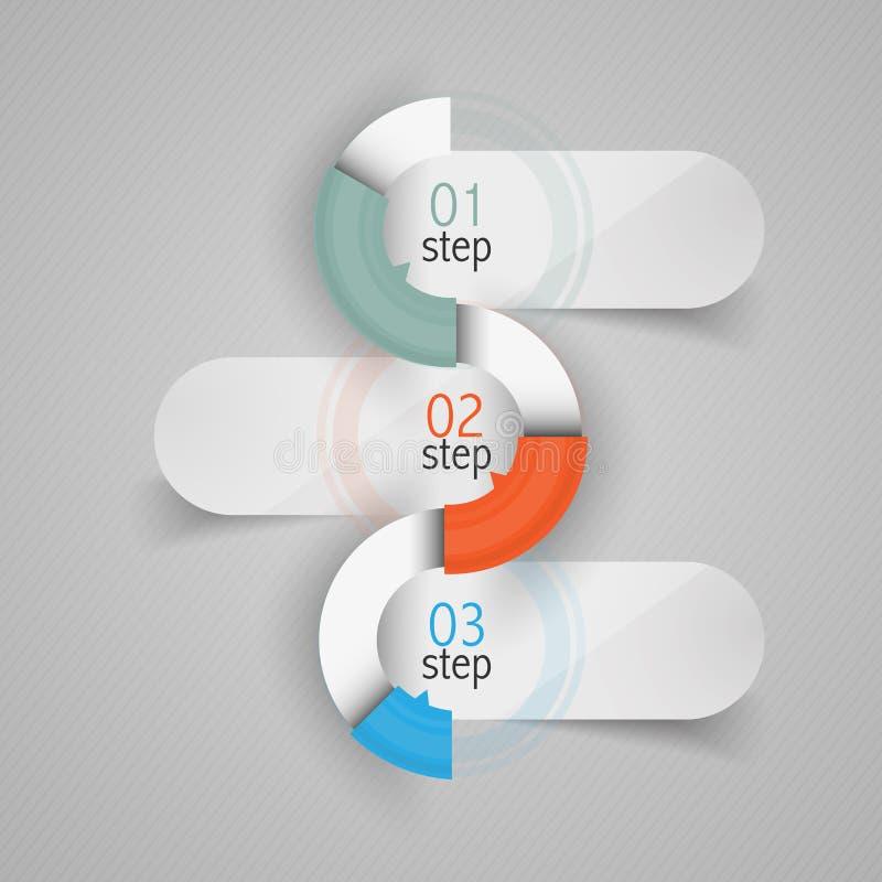 Minimalistic-Design infographic lizenzfreie abbildung