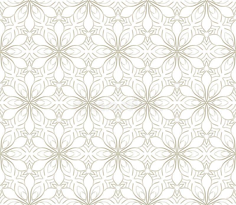 Minimalistic die lineair bloempatroon herhalen royalty-vrije illustratie