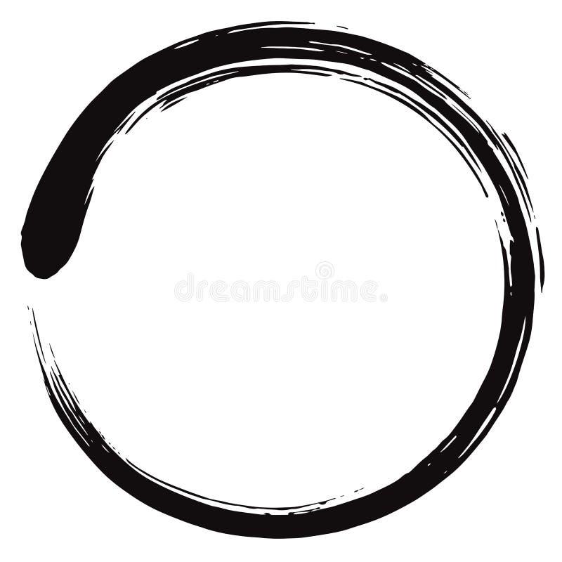 Minimalistic Enso Zen Circle Vetora ilustração stock