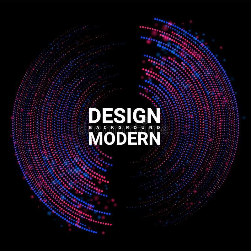 Minimalistic för solid våg abstrakt ljus för albummusikräkning Digital utj?mnare Designbeståndsdelen pricker samma slumpmässigt o royaltyfri illustrationer