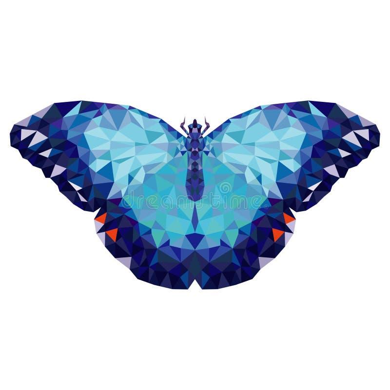 Minimalistic fjäril i låg poly stil royaltyfri illustrationer