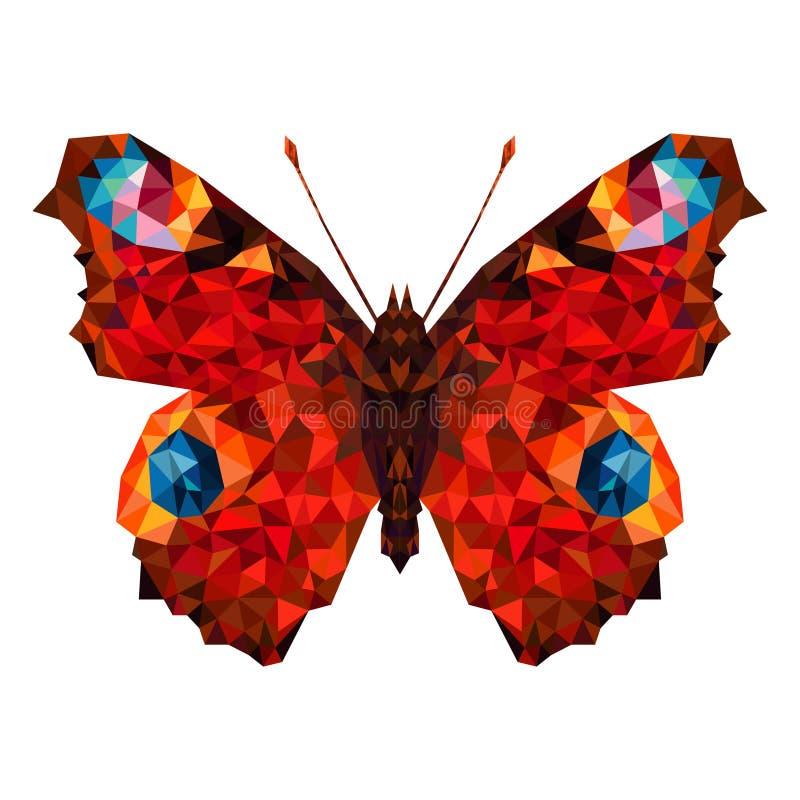 Minimalistic fjäril i låg poly stil vektor illustrationer