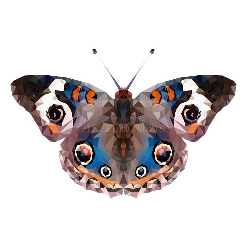 Minimalistic fjärilskontur med orange bruna vingar och vita fläckar royaltyfri illustrationer