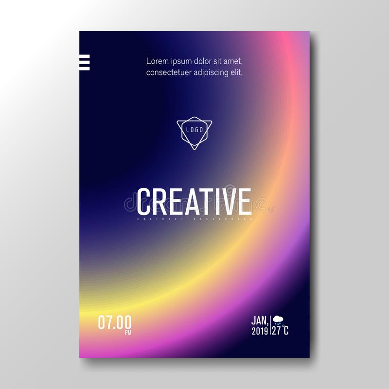 Modern Fluid Blurred Gradient with soft colorful Background for Poster, Invitation Card, Brochure, Advertising, Placard, Music stock illustration