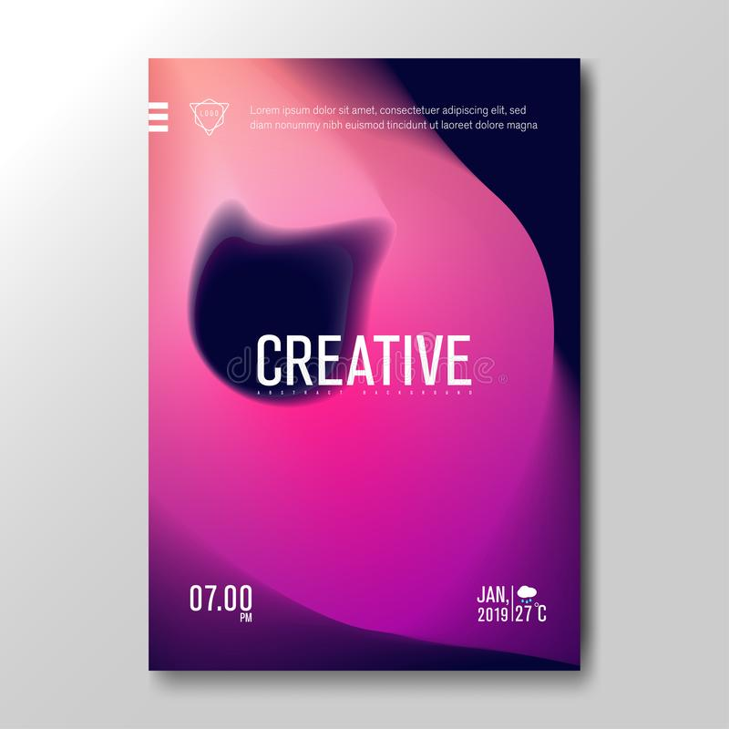 Modern Fluid Blurred Gradient with soft colorful Background for Poster, Invitation Card, Brochure, Advertising, Placard, Music royalty free illustration