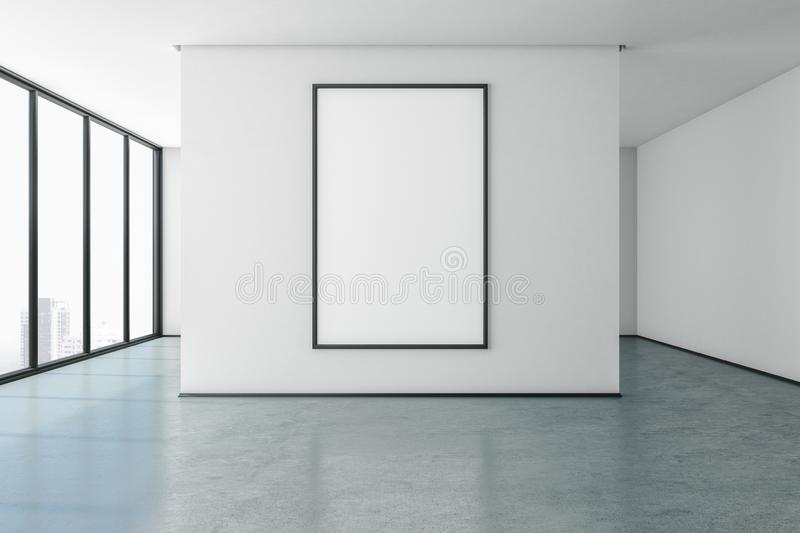 Minimalistic gallery with poster royalty free illustration