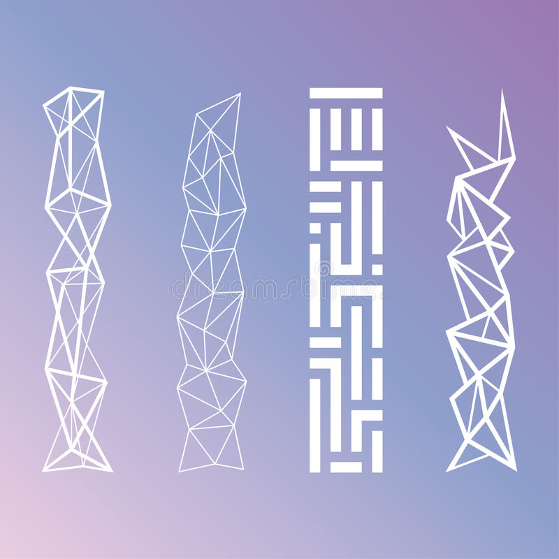 Minimalistic Geometrische Patronen stock illustratie