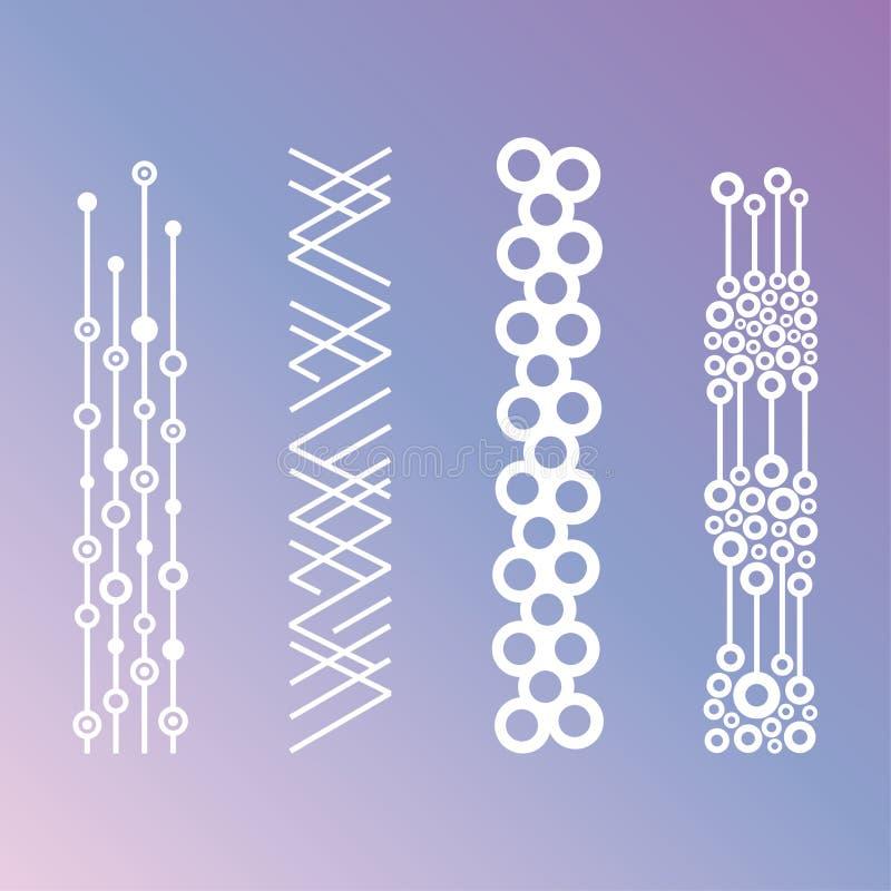 Minimalistic Geometrische Patronen vector illustratie