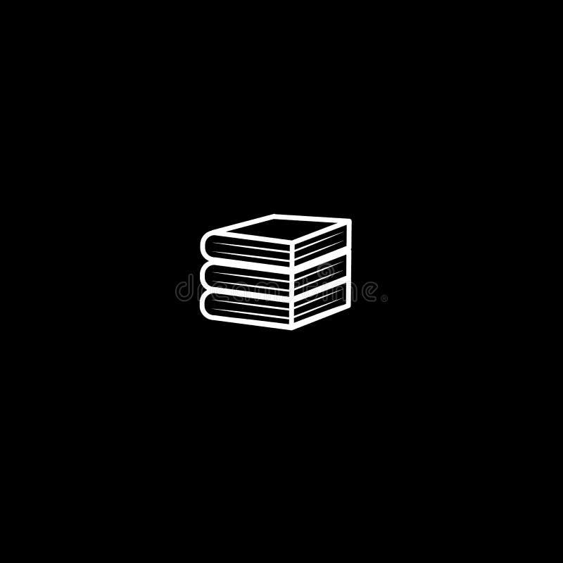 Minimalistic-Ikonenstapel starke Bücher, Bibliotheksbuchhandlungen stockbild
