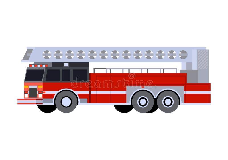 Minimalistic ikony samochodu strażackiego drabina ilustracji