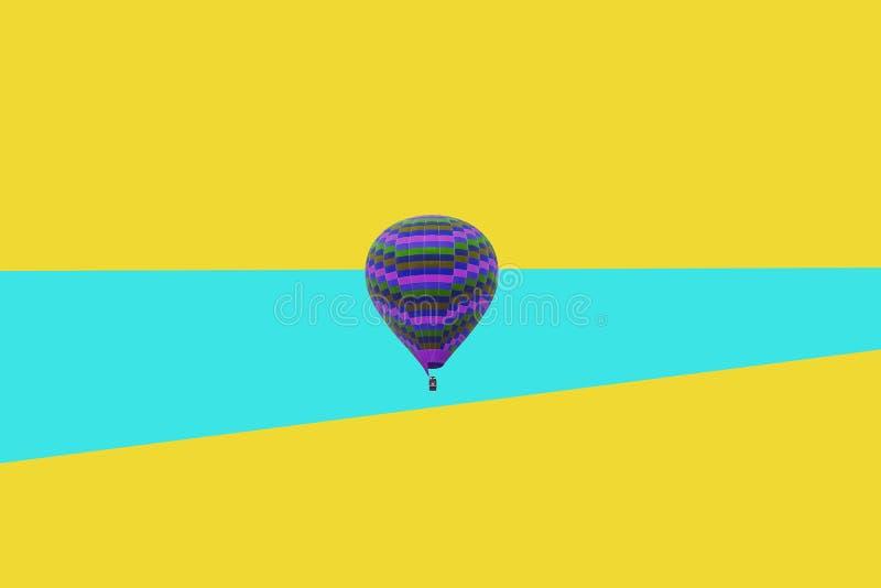 Minimal illustration of a flying balloon. A minimalistic illustration of a flying balloon. Creative Idea royalty free stock image