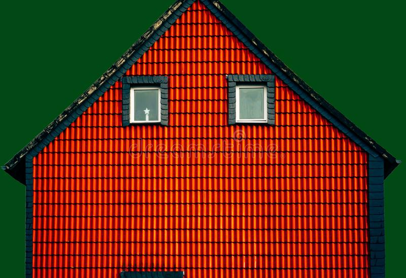Minimalistic image of the facade of the house stock photo