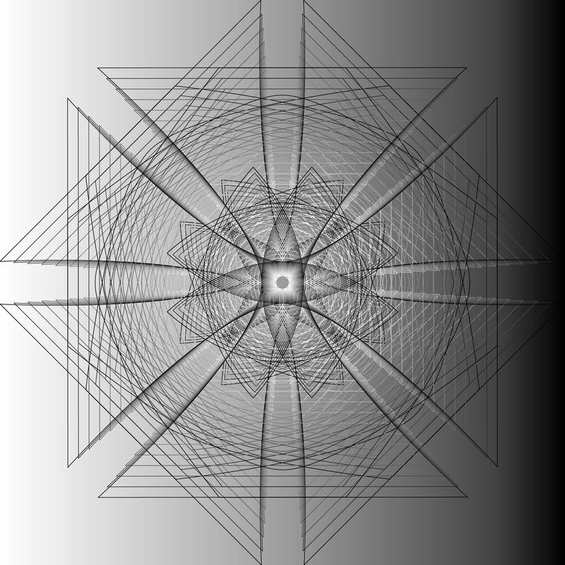 Minimalistic konstverkaffisch för geometri med det enkla form och diagramet vektor illustrationer