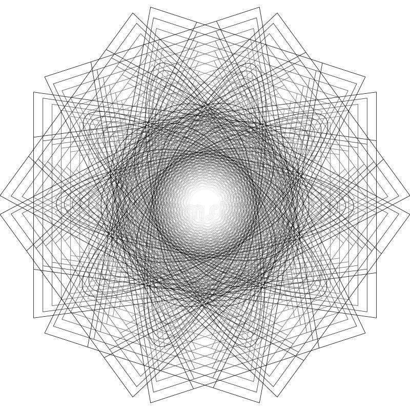 Minimalistic konstverkaffisch för geometri med det enkla form och diagramet stock illustrationer