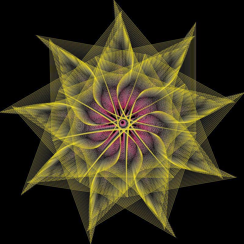 Minimalistic konstverkaffisch för geometri med det enkla form och diagramet royaltyfri illustrationer
