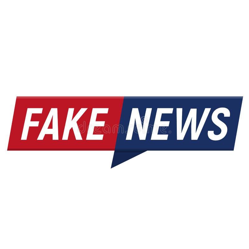 Minimalistic Logo der gefälschten Nachrichten auf weißem Hintergrund Unterhaltsame Show mit Nachrichten Auch im corel abgehobenen lizenzfreie abbildung