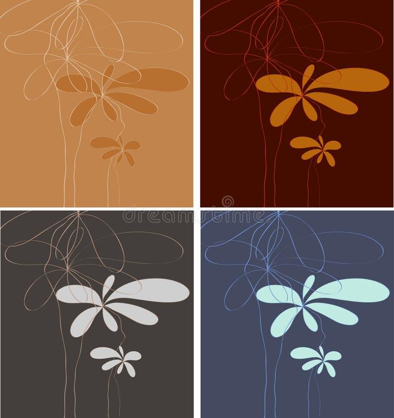 Minimalistic mit Blumenkunst stock abbildung