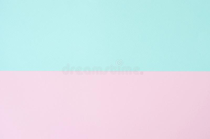 Minimalistic paper background in green and pink. Trendy shades of the year stock photography