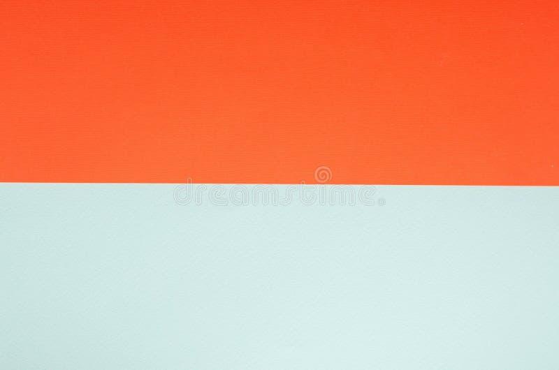 Minimalistic papieru t?o w zieleni i pomara?cze obrazy stock