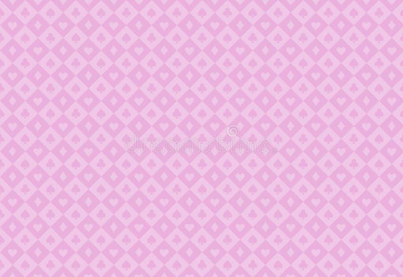 Minimalistic rosa pokerbakgrund med sömlös t royaltyfri illustrationer