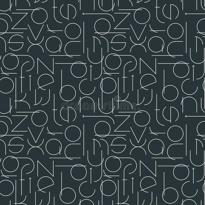 Minimalistic sömlös modell med bokstäver royaltyfri illustrationer