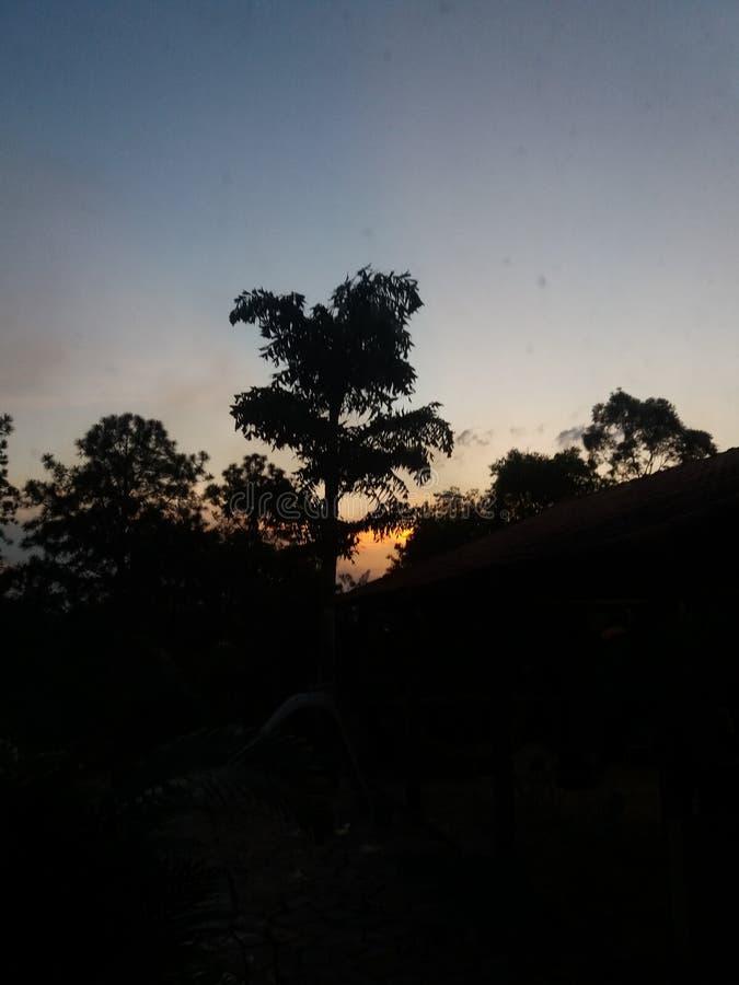 Minimalistic-Sonnenuntergang stockfoto