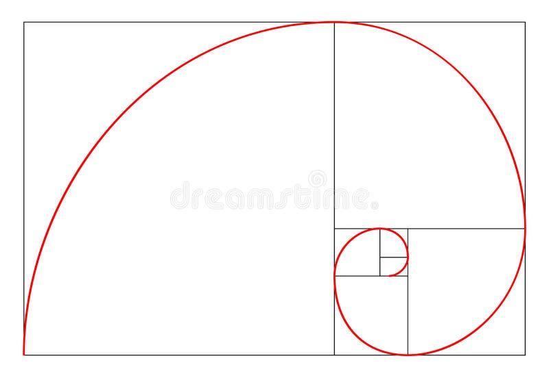Minimalistic style design. Golden ratio. Geometric shapes. Circles in golden proportion. Futuristic design. Logo. Vector icon. Abs vector illustration