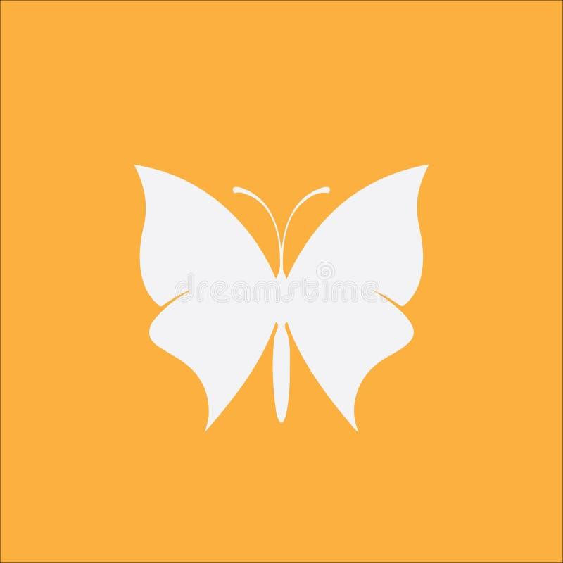 Minimalistic symbol för fjäril stock illustrationer