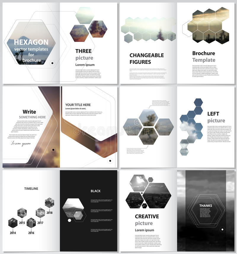 The minimalistic vector illustration of the editable layout of A4 format modern covers design templates for brochure. Magazine, flyer, booklet, report royalty free illustration