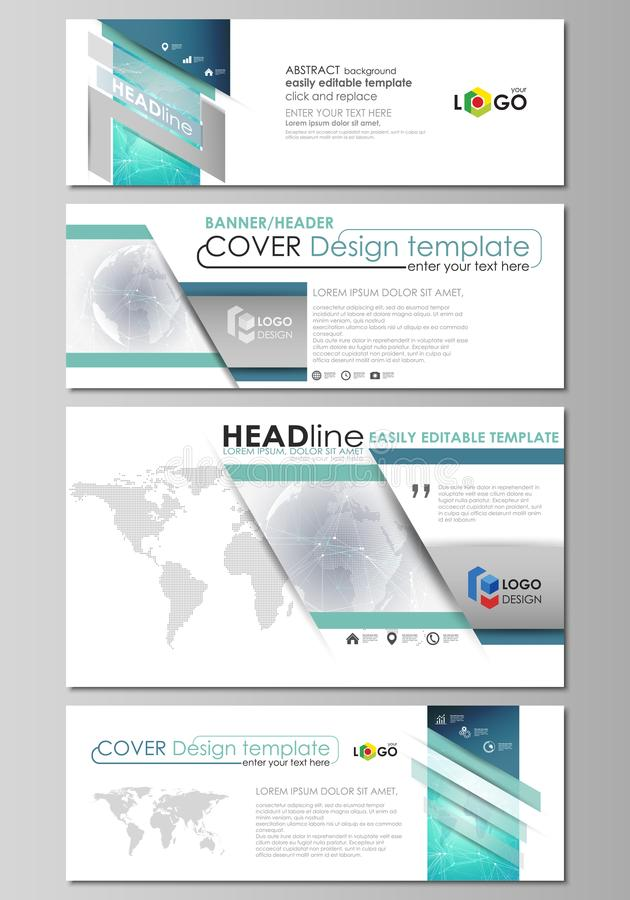 The minimalistic vector illustration of editable layout of social media, email headers, banner design templates in. The minimalistic vector illustration of the royalty free illustration