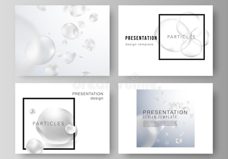 The minimalistic vector layout of the presentation slides design business templates. Spa and healthcare design. Abstract royalty free illustration