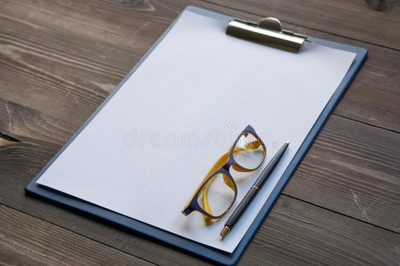 Minimalistic working place of writer royalty free stock photos
