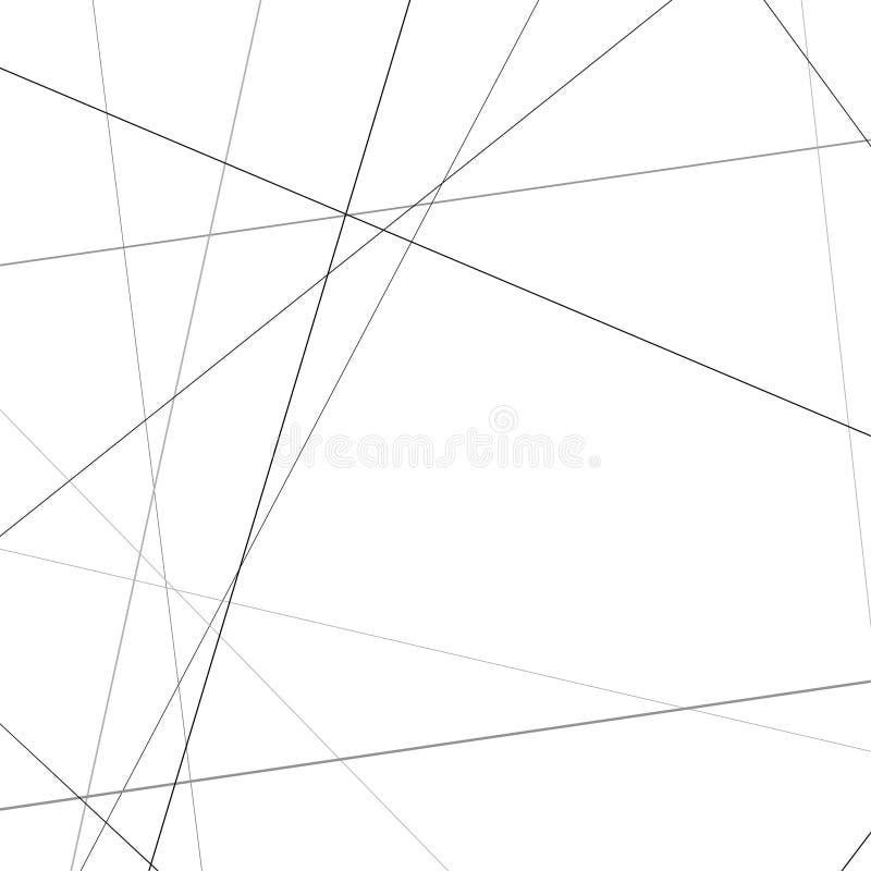 Minimalistic zwarte lijnen over wit geometrisch patroon royalty-vrije illustratie