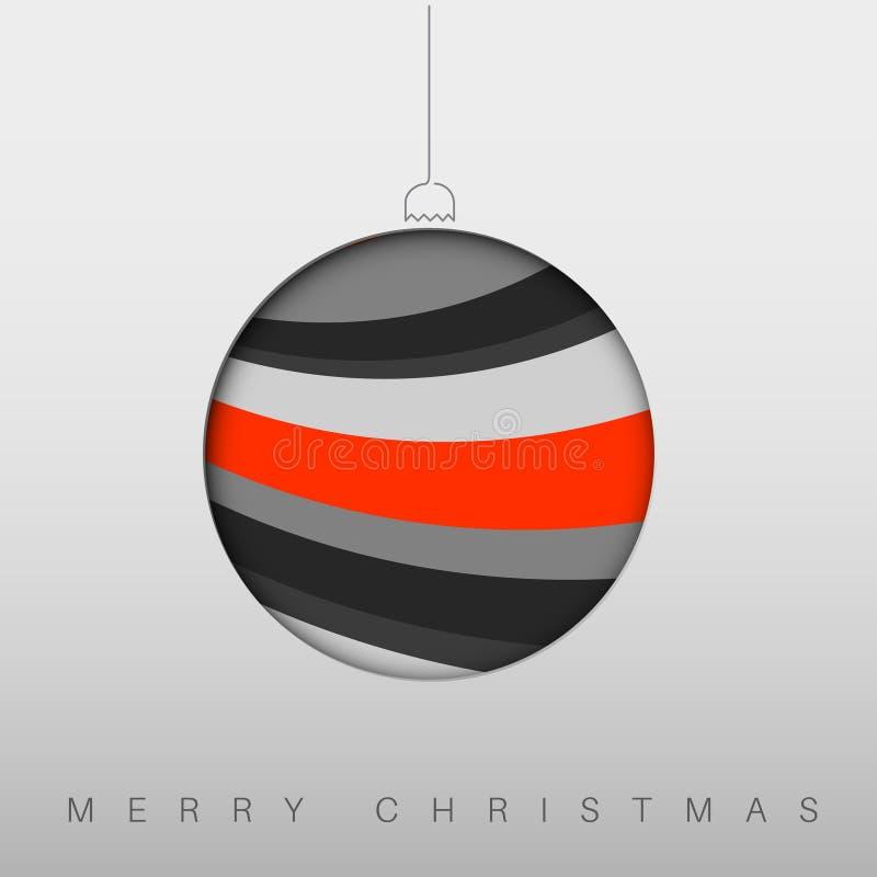 Minimalistickerstkaart met de decoratie van de Kerstmissnuisterij royalty-vrije illustratie