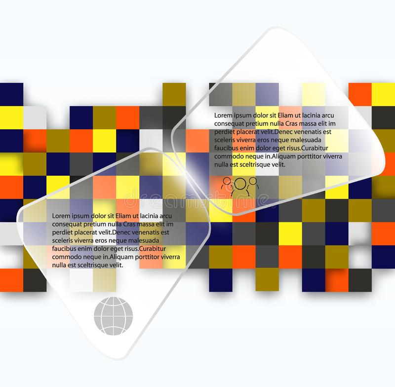 Minimalisticontwerp, creatief concept, modern abstract Geometrisch element als achtergrond Blauw, geel en rood vierkant royalty-vrije illustratie