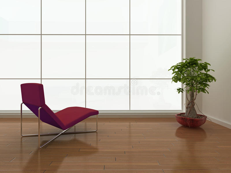 Minimalistisch binnenland vector illustratie