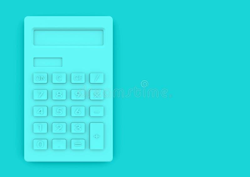 Minimalistisch calculatorconcept voor bedrijfsfinanciën en onderwijs royalty-vrije stock afbeeldingen