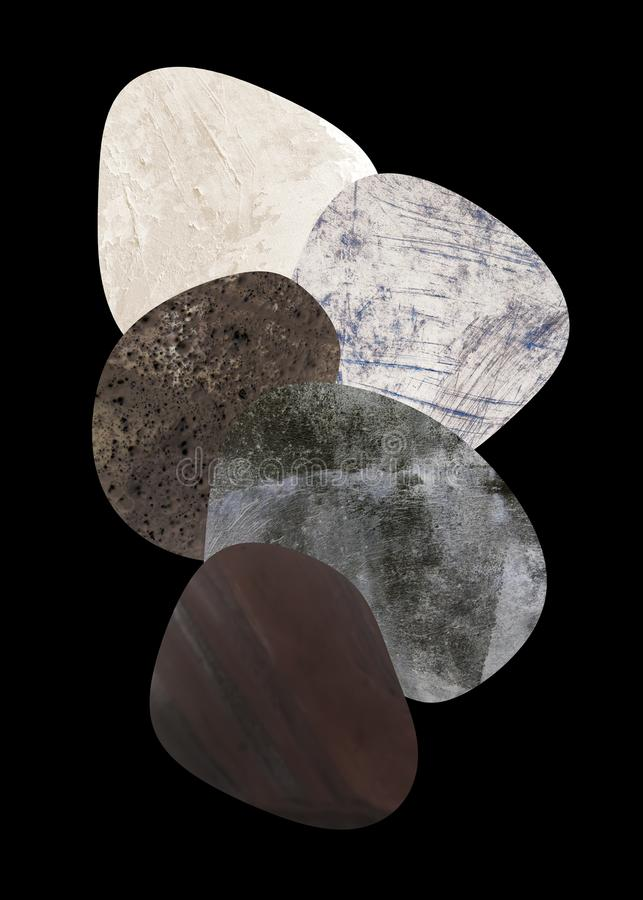 Minimalistisch Modern Voor het drukken geschikt Geometrisch Noords Art. stock afbeeldingen