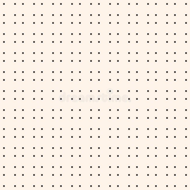 Minimalistisch naadloos patroon met kleine vierkanten, de textuur van de pixelkunst stock illustratie